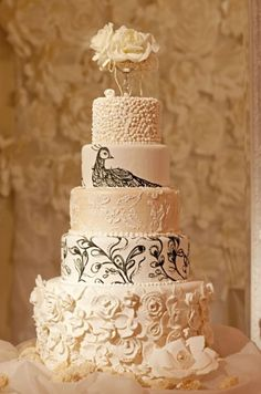 to clarify - I do not want a peacock on my cake...the detail on the cake is just cool