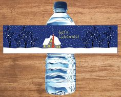 Instant Download Christmas Party Holiday Open House Water Bottle Lables for sale on Etsy.