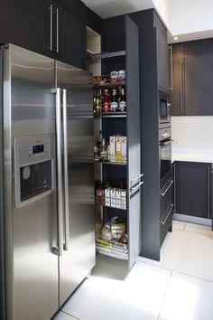 This kitchen takes storage to another level. #kitchenstorage #storage