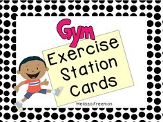 Grab these 8 FREE posters to use as activity stations in Physical Education class!