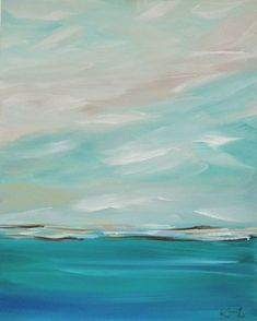 Original Painting Seascape Abstract Coastal by KamaraLarryStudio, $355.00