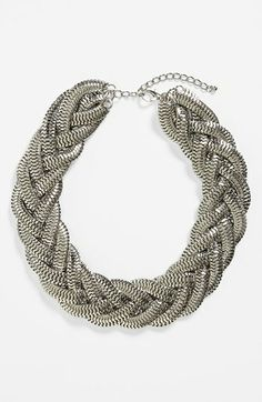 Kool Konnections Braided Chain Collar Necklace (Juniors) (Online Only) available at #Nordstrom