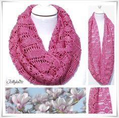 Knitting Pattern Cowl Magnolia by Jollyknits on Etsy