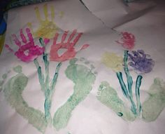 Hand and feet paint craft