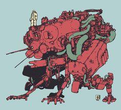 Zerog 1, Jan Buragay on ArtStation at https://www.artstation.com/artwork/d9d5Q