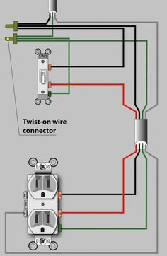 Wiring diagram for power in the switch box (not the preferred method, but acceptable).