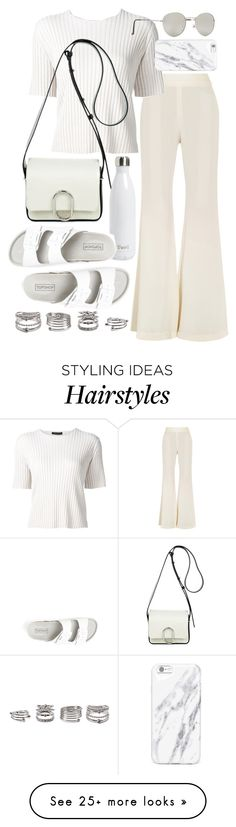 """""""Untitled #19897"""" by florencia95 on Polyvore featuring E L L E R Y, The Row, 3.1 Phillip Lim, Forever 21, S'well and Topshop"""