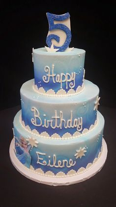 Cookie Jar Bakeshop I Custom Cakes I Birthday Cake I FROZEN Themed Birthday Cake I Juvenile Birthday Cake