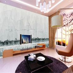 Freehand Chinese Guilin Landscape Wallpaper - 178W x 111H inches / Non-woven Paper