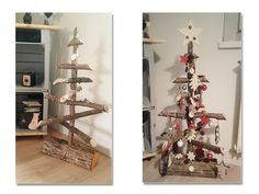 Sapin de Noël, en petit bois de cheminée. Retourne à sa destination initiale après les fêtes... :)