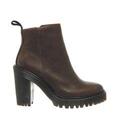 Dr. Martens Seirene Magdalene Ankle Boots Dark Brown Leather - Ankle Boots