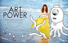 Editorial   Art Power in Elle Belgium