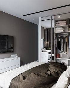 68 ideas for bedroom furniture master interior design Bedroom Closet Design, Closet Designs, Home Bedroom, Modern Bedroom, Bedroom Furniture, Bedroom Decor, Le Logis, Modern Home Interior Design, Bedroom Layouts