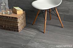 Tile - PIETRA VALMALENCO 45x90 / by COEM  #tile #sangahtile #italy #coem #stone #stonetile #wall #chair #frame #grey #타일 #상아타일 #이태리타일 #아트월 #벽타일 #의자 #액자 #거실벽