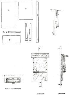 fledermausbrett plan pour nichoir chauves souris nichoirs pour chauves souris bat box. Black Bedroom Furniture Sets. Home Design Ideas