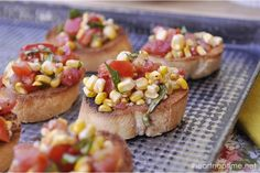 Roasted Corn and Tomato Bruschetta | I Heart Nap Time - Easy recipes, DIY crafts, Homemaking