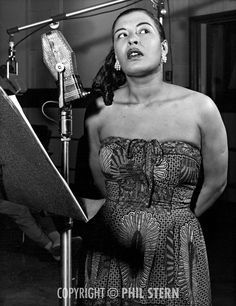 billie+holiday | Contact sheet of Billie Holiday recording the album Music for Touching ...
