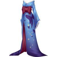 Kimono geisha diabólica azul