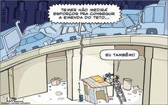 Charge do Lute sobre a PEC do Teto dos Gastos (10/10/2016). #Charge #PEC #Teto #Gastos #Política #HojeEmDia
