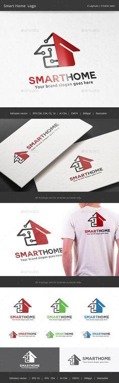 Smart Tech Home Logo Template #design #logotype Download: http://graphicriver.net/item/smart-tech-home-logo/11591144?ref=ksioks