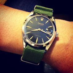 Or green on the '65 Rolex Oysterdate