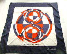 Balmain Silk Scarf 1974 in Red White and Blue by FoundVintageStyle, $25.00 (http://www.etsy.com/listing/93074876/balmain-silk-scarf-1974-in-red-white-and?ref=af_new_item)