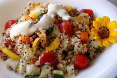 Quinoa Salad Salada fria de Quinoa com Molho de Natas e Iogurte