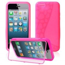 Funda iPhone 5C - Gel con Soporte Fucsia  AR$ 54,23