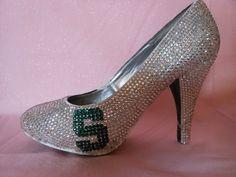 Graduation Shoes  Michigan State University by TietheKnotCreationz, $250.00