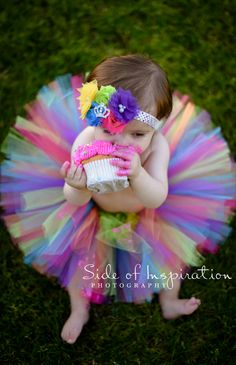 Cake smash session- first birthday- tutu & matching headband- what to wear for photos- baby girl session- one year old