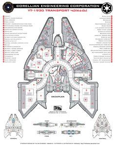 Corellian YT-1930 Deckplan by Everwho on DeviantArt