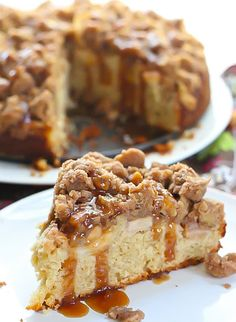 Apple caramel coffee cake