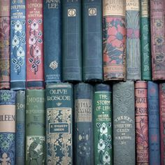 """Knowing you have something good to read before bed is among the most pleasurable of sensations"" ~Dame Hilary Mary Mantel/ Vladimir Nabokov. Photo: Old 19th century books. Via Michael Moon Books."