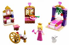 Compare prices on LEGO Disney Princess Set Sleeping Beautys Royal Bedroom from top online retailers. Save money on your favorite LEGO figures, accessories, and sets. Lego Disney Princess, Lego Princesse Disney, Princess Anna, Princess Toys, Princess Aurora, Legos, Evil Fairy, Lego Friends Sets, Royal Bedroom