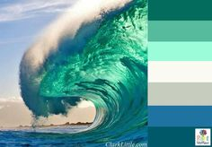 Hawaiian Wave Color Palette - Color inspiration for your next painting project | Paint My Place App