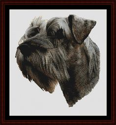 Schnauzer - Cross Stitch Collectibles fine art counted cross stitch pattern