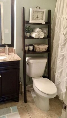 Over the Toilet Ladder Shelf, Choose color stain/p…