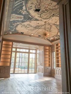 Mashup Monday 17 Inspired Ways To Decorate With Maps In Your Home - Slave to . - Mashup Monday 17 Inspired Ways To Decorate With Maps In Your Home – Slave to DIY - Unique Home Decor, Diy Home Decor, Unique Home Designs, Modern Decor, Style Toscan, Home Library Design, Dream Library, Library In Home, Home Libraries