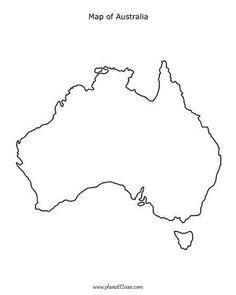 Free printable black & white worksheets for preschool, Kindergarten, grades. Map of Australia. Australia Crafts, Australia Map, Visit Australia, Printable Maps, Free Printables, Work And Travel Australien, Map Tattoos, Travel Tattoos, Arrow Tattoos