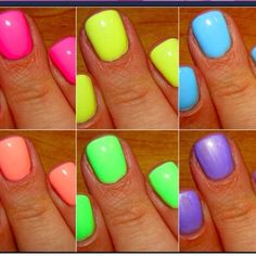 Summer neon nails! so pretty