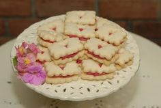 Raspberry Buttercream Shortbread Sandwiches
