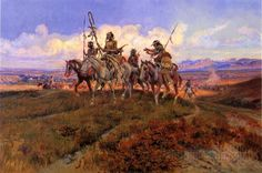 The Wolfmen by Charles Marion Russell