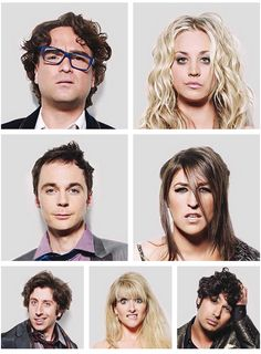 The big bang theory cast.