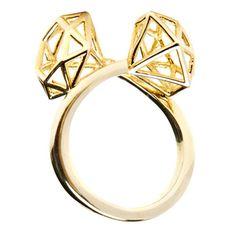 Double Cage Diamond Ring