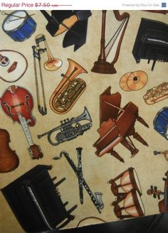 Hey, I found this really awesome Etsy listing at https://www.etsy.com/listing/175347746/music-fabric-orchestra-hard-find