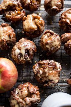 Maple Glazed Apple Fritters | halfbakedharvest.com @hbharvest