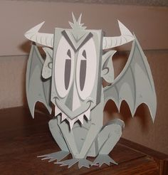 """Gnarley"" the gargoyle by Matt Hawkins - I keep one perched on my monitor. :) Free template at the link!"