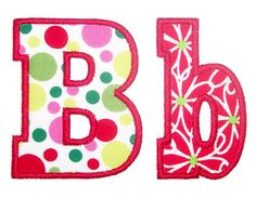 Have:: Chunky Applique Alphabet - Embroidery Boutique