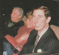 Prince Charles, Lady Diana and their chaperon, . Spencer Family, Lady Diana Spencer, Princess Diana Photos, Princess Charlotte, Charles And Diana, Prince Charles, William Kate, Princesa Diana, Prince And Princess