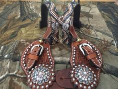 Bling Spurs & Straps by BlingHorseTackAndMor on Etsy